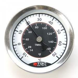 Magnetic thermometer for surface temperature